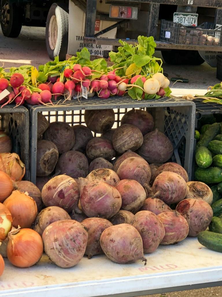 June Farmers Market Produce Colorado