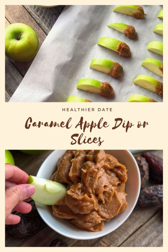 Healthier date caramel pin image