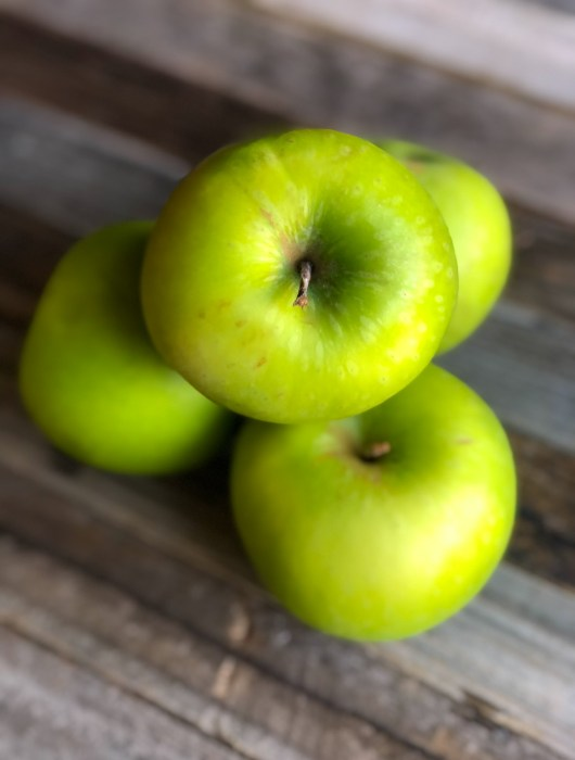 Pile of granny smith apples
