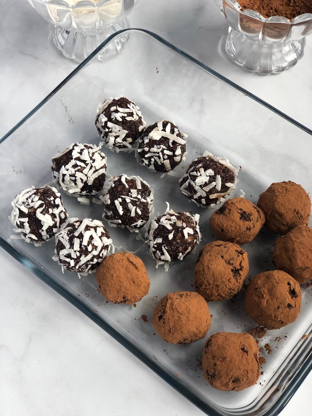 Mint Chocolate Hemp Seed Energy Bites
