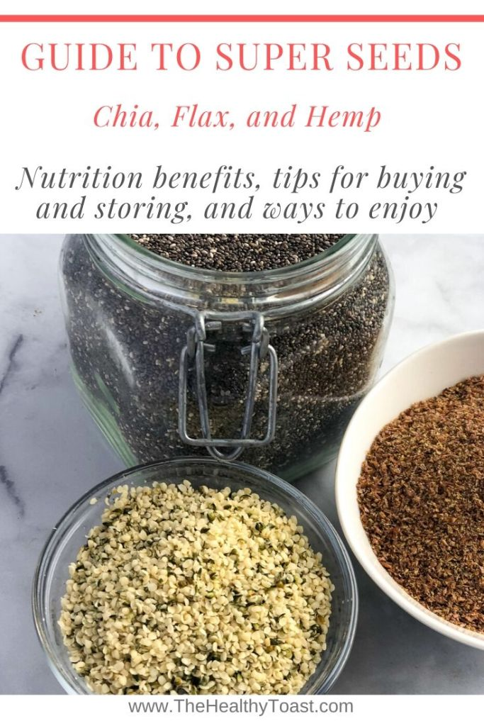 Meet Your Ingredients: Chia, Flax, and Hemp Seeds