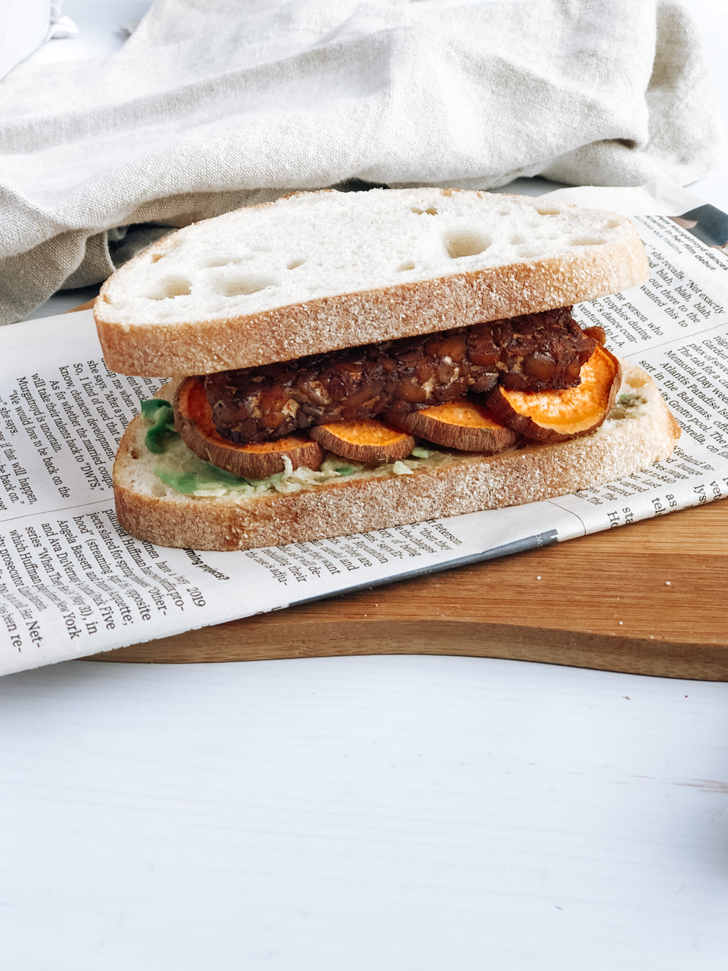 Sweet and Spicy Tempeh Sweet Potato Sandwiches