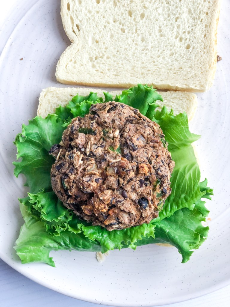 Vegan Black Bean Jalapeno Popper Burgers