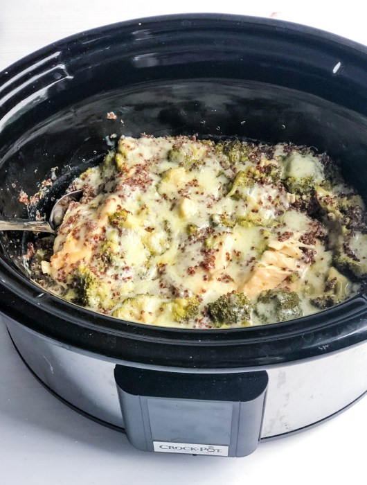 Healthy Slow Cooker Creamy Chicken Casserole