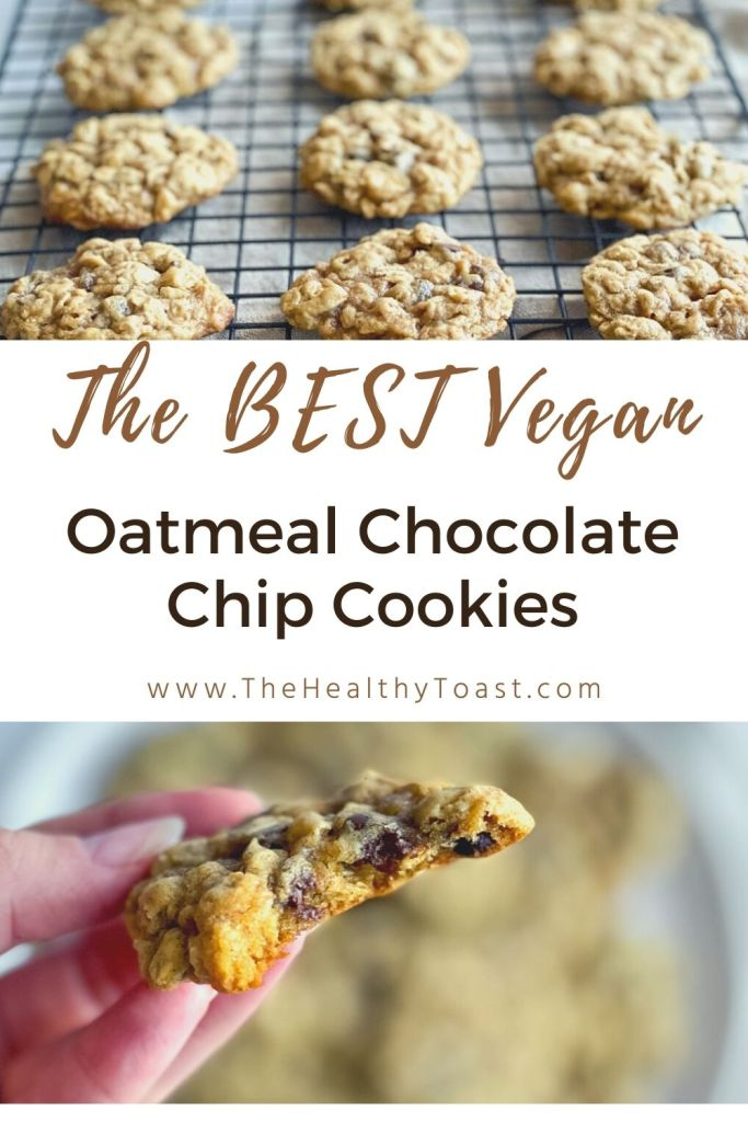The Best Vegan Oatmeal Chocolate Chip Cookies