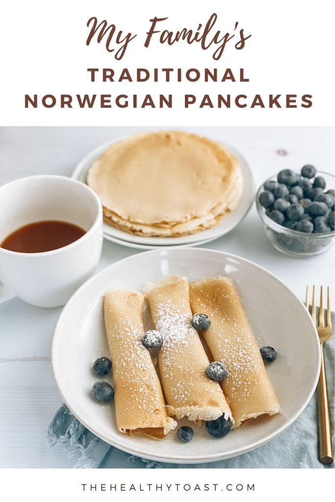 Norwegian Pancake Recipe Pinterest Image