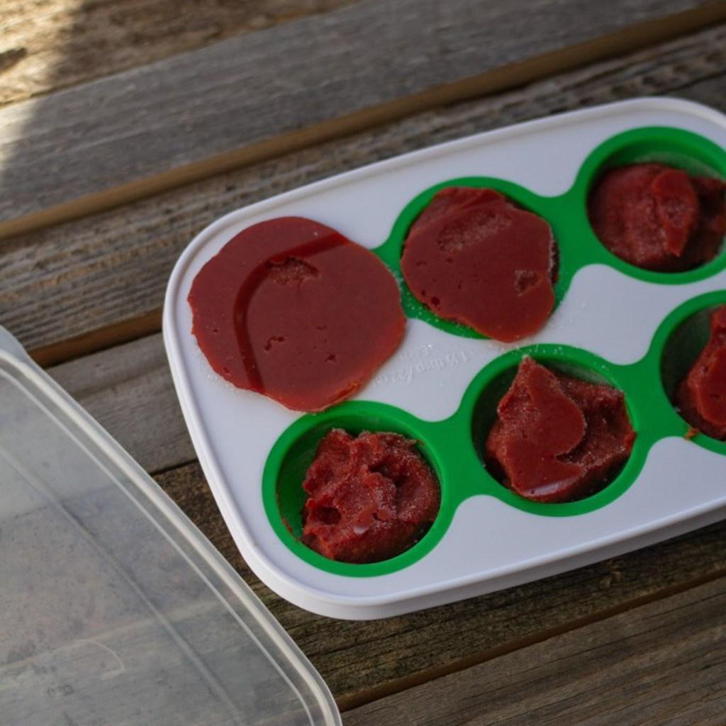 storing leftover tomato paste