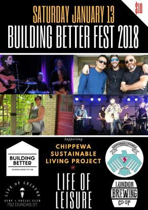 poster Building Better Fest 2018 London Ontario