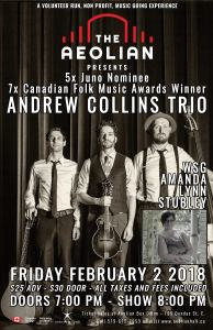 Andrew Collins wsg Amanda Lynn Stubley at Aeolian Hall Feb 2 2018