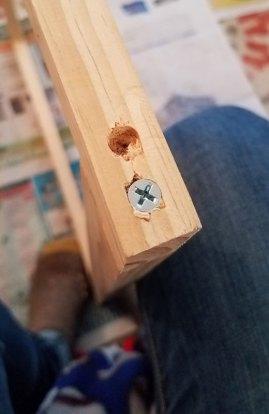Building My Weaving Loom - Screws