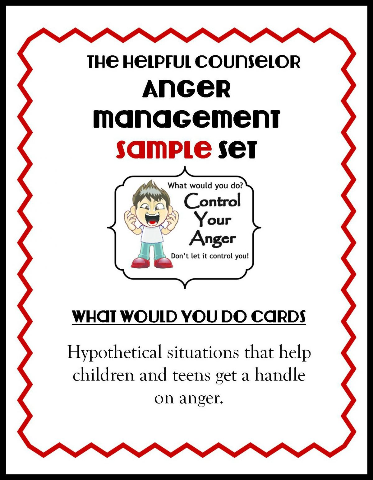 Anger Management Free Printable Problem Solving