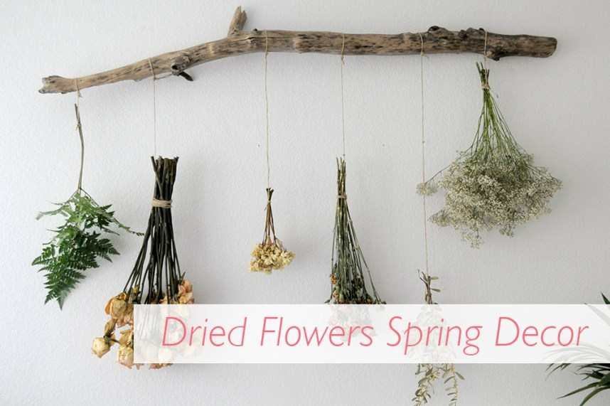 Dried Flowers Spring Decor