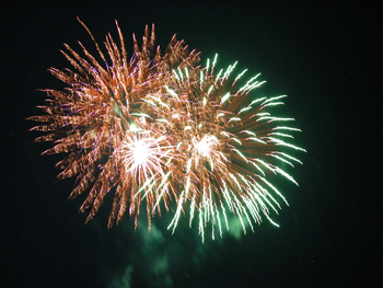 Courtesy photo Meeker's annual Fourth of July fireworks display will light up the sky Saturday night, beginning at dusk.