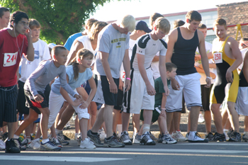 Runners take their mark for the start of last year's 5K, part of Meeker's Range Call activities. This year's run will take place at 7:30 a.m. Saturday — and the walk at 8 a.m.