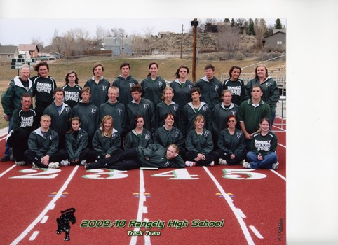 Members of the Rangely High School boys' and girls' track teams. Two members - Audrey Hogan and Logan Osborne - qualified for the state meet.
