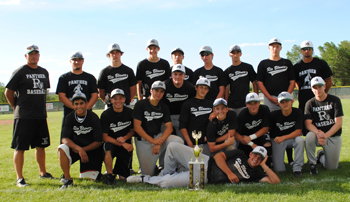 Coaches and players for the Rio Blanco County American Legion summer baseball team posed Saturday after winning a three-day tournament they hosted in Rangely.