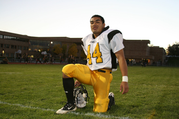 Meeker running back Alema Atoafa rushed for 151 yards against rival Rangely.