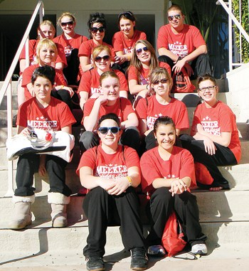 The Meeker dance team will  perform tonight during the  halftime show of the Bridgepoint Education Holiday Bowl in San Diego, Calif., which will be  televised on ESPN at 7 p.m. Members include, from front; Jordan Smith and Alexis Gutierrez, Katie Morgan, Mandy de Vergie, Selena Steele and Stephanie Joos, Miranda Mayerle, Nicole Hilkey and Emily Eliasen, Tina Bain, Taylor Ahrens, Meghan Gerloff, Mariah Jensen and Caleb Dodds. The dance team will also be in the Holiday Bowl Parade, advertised as America's Largest Balloon parade, which will be televised Dec. 31 at 9 a.m., on the USA Network.