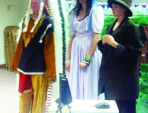 Andy Urista, Paige Jones and Megan Parker, all participated in the History Day state competition last Saturday.