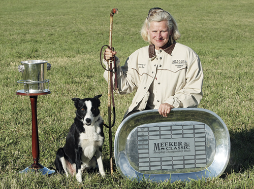 Amanda Milliken of Kingston, Ontario, Canada, and her dog Clive won the silver anniversary 2011 Meeker Classic Sheepdog Championship trials last weekend. She didn't have much time to celebrate, however. Milliken and Clive qualified to compete in the 2011 U.S. National Finals, which started Tuesday in Carbondale.