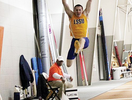 RHS graduate Jason Brenton won a national title in the triple jump last weekend at the NCAA Division II Indoor Track and Field Championships held in Mankato, Minn. Brenton also earned All-American honors for a fifth time, with a fifth place finish in the heptathlon.