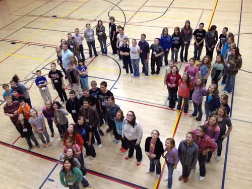 """More than 140 4-H members from Rio Blanco, Moffat, Routt, Jackson, Grand, Eagle and Garfield counties participated in the annual District 11 and 12 retreat, including 18 from Rio Blanco County, to discover which """"H"""" in the 4-H pledge they most relate to."""