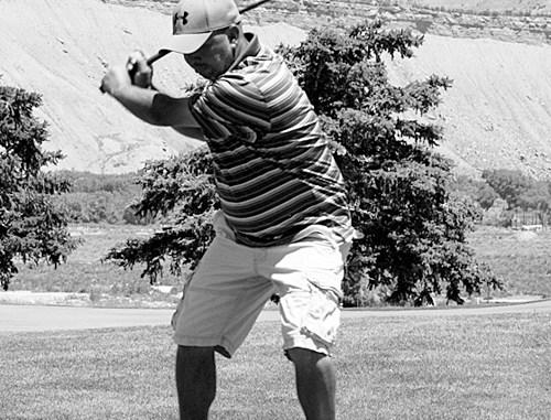 Dean Gibbs of Vernal, Utah won the longest drive on No. 1.