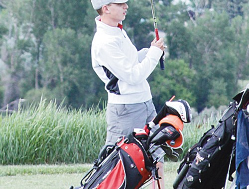 Calvin Shepherd, who will be a senior at Meeker High School, will play golf on Rangely's high school team for a second year. Shepherd and his teammates opened the season today at Battlement Mesa.