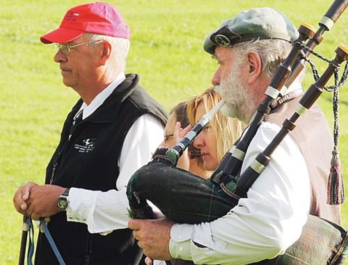 Sheridan, Wyo., resident Bob Wyatt  was the Classic's bag piper.