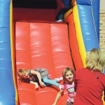Everywhere the ERBM Recreation and Park District sets it up, the bumpy blow-up slide is a wild success with the young ones in the group. Fall Festival was no exception as these two young ladies had a great time on the slide amid sunny skies and 60-degree temperatures on Saturday afternoon.