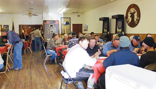 rene hardin Approximately 75 veterans representing service in all major conflicts since World War II attended an annual barbecue at the Elks Club in Rangely on Monday afternoon. Attendees shared conversation and stories at the event, which Rangely resident Sam Tolley has hosted for several years running.