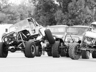 The Rangely Rock Crawlers were one of many entrees in the Septemberfest parade and car show in Rangely over the Labor Day weekend.