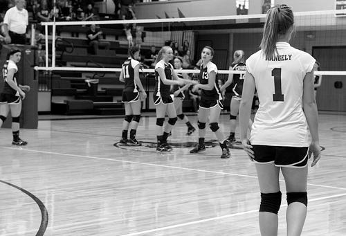Rangely High School's volleyball team won at home last Saturday, beating Plateau Valley in a key league matchup.