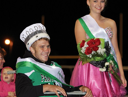 """Crowned king and queen  of the 2014 Rangely High School Homecoming royalty were King Ethan Allred, left, and Queen Simone Heinle, right. A wide variety of activities were held all week long, culminating with the Homecoming dance on Saturday. The parade theme this year was """"Electric Avenue."""""""