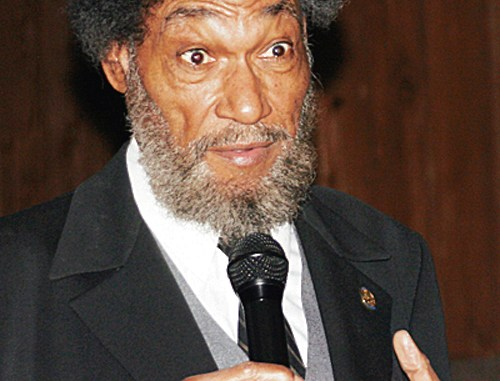 HEATHER ZADRA Scholar-actor Charles Everett Pace speaks as abolitionist Frederick Douglass as part of the Black History Live Tour at Colorado Northwestern Community College on Feb. 24.