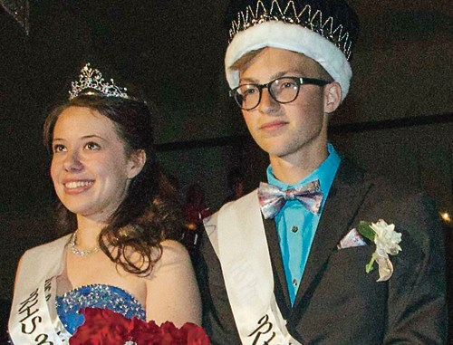 Selected as prom queen by the RHS students was Stephanie Tuck, left, while king was Marshal Way.
