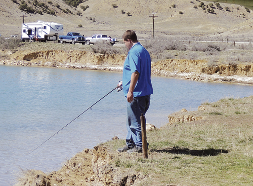 Sunday presented fishermen and women around Rio Blanco County with beautiful warm and sunny weather. Several folks from Craig came down to fish at Rio Blanco Lake, about 18 miles west of Meeker, because they said the fish they were after—crappie and perch—aren't available in Moffat County. There were several groups fishing the lake and the anglers reported a few fish being landed and several hits that weren't.