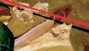 Pictured is a clear photo of a four-foot section of one of the ribs that has been excavated at the CNCC dig site south of Rangely. The dig is obviously being done on a large animal, the species being unknown now, until more has been unearthed. The CNCC science classes, which are utilizing the site as an educational opportunity for students, could be literally the doorway to an ever-growing future in the world of paleontology for Colorado Northwestern Community College. The college has a facility in Craig that has been designated as a federally certified clearing house and fossil depository for digs in the area. Without that designation having been received, all fossils found in this area would have to be shipped out of Colorado to an approved facility in another state.