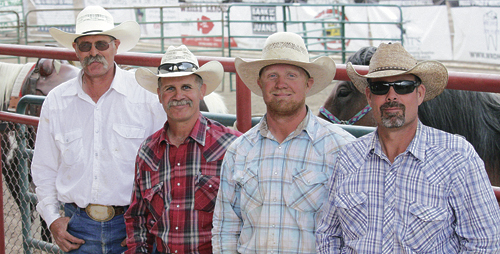 Thirteen teams performed in the 130th annual Range Call Celebration ranch rodeo—the oldest continuous rodeo in the state of Colorado. The teams competed in five events: Wild Cow Milking, Team Doctoring, Penning, Branding and the Rawhide Race. When all the dust settled, Buddy Pakuer, Coley Turner, Aaron Webster and Lenny Klinglesmith won the prestigious belt buckles.
