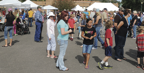 A crowd of several hundred people took part in Mountain Valley Bank's 2014 Fall Festival in downtown Meeker last year. This year, the event will run from 11 a.m. to 2 p.m. Saturday. There will be plenty of food booths and games on hand to help occupy kids from infant to adult. The 12th annual Mountain Valley Bank Fall Festival is sponsored by the bank so local non-profit groups can raise money. It will be co-hosted by White River Electric Association and the ERBM Recreation and Park District.