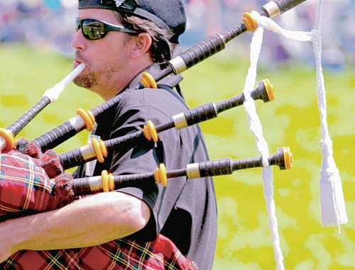 """The sheepdog competitions have their roots in the highlands of Scotland and Ireland and, as such, are associated with the """"pipes"""" of the Irish and Scottish bagpipers. There will be pipers on hand during the Meeker Classic, and their instruments can be heard periodically as they practice between performances."""