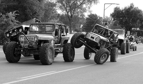 It was a busy Labor Day weekend in Rangely as the annual Septemberfest celebration kept Rangely residents hopping for four days. Above, members of the Rangely Rock Crushers off-road jeep group, showed off their stuff as part of the Rangely Septemberfest Parade down Main Street. A wide variety of Range activities kept the Rangely residents and visitors occupied and entertained for four days.