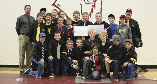 The Barone Middle School wrestling team finished second in Oak Creek over the past weekend and the members will wrestle for the Northwest Colorado League title on Saturday in Rangely, where wrestling will start at 9 a.m.