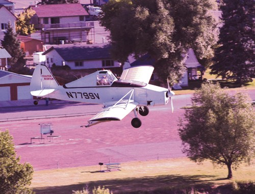 The hills were alive on Tuesday morning with the buzz of this plane making the rounds around Meeker and dropping fairly low when possible as pilot Lanny Coulter of Coulter Aviation applies mosquito repellant to the properties around Meeker. The spray keeps the number of mosquitos down but also may help to prevent the spread of the West Nile Virus into Rio Blanco County.