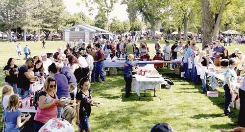 Roughly 950 Rangely residents and visitors took part in and enjoyed the annual Rangely Elks Club barbecue on Monday last year at Rangely's Elks Park, the central location for activities that wrapped up three days of Septemberfest. Besides the hugely successful barbecue, Elks Park played host to a large arts and crafts fair that which lined three sides of the park. The northwest portion of the park played host to the annual car show that saw several dozen vehicles on display to the public. Well in excess of 1,000 people were in attendance at Elks Park on Labor Day last year for all the activities held.