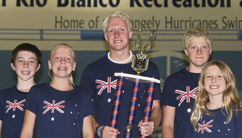 The Rangely Hurricanes won their seventh small team Colorado State Championships in nine years this past weekend. From left to right are team members: Colton Noel, Mary Scoggins, Patrick Scoggins, Timothy Scoggins and Chloe Noel. Not pictured is Peyton Armstrong.