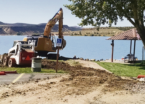 """In 2015 the Rio Blanco Water Conservancy District was awarded a $70,000 grant from Colorado Parks and Wildlife for the replacement of a fishing pier. This grant was the largest grant issued by the Colorado Parks and Wildlife in 2015 and will be used to construct an """"Americans with Disabilities Act"""" compliant fishing pier. The pier will be a wonderful addition for all the users of Kenney Reservoir for decades to come with completion scheduled for November 2016."""