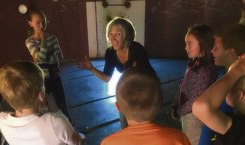 Musician Lois LaFond takes Parkview Elementary School students through a listening exercise during a Days of Sonic Learning session at The TANK Center for Sonic Arts Sept. 26-27.