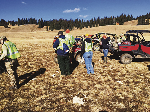 More than 30 volunteers participated in the recent search and rescue operation near Pagoda Lake west of Meeker. Meeker's new fire chief lauded the cooperation among all the first responders in the area. Courtesy Photo
