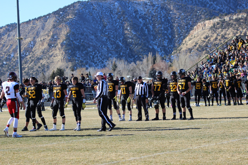 bobby gutierrez photo Cowboy senior captains Korey Hood, Tanner Slaugh (52), Ty Gibson (73), Sheridan Harvey (5), Cole Brown (19), Hunter Garcia (11), Tyler Ilgen (77), Casey Turner (22) and Chase Rule (57), helped their team advance to the 2016 1A state championship game and earn the best record (12-1) in the history of Meeker High School's football program, with their only loss coming in the ever elusive title game.